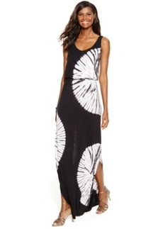 INC International Concepts Petite Tie-Dye Blouson Maxi Dress
