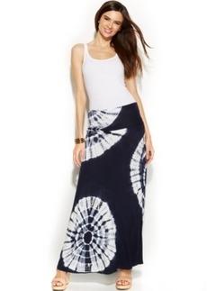 INC International Concepts Petite Tie-Dye Convertible Maxi Skirt