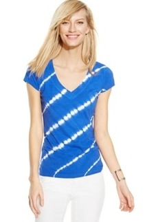 Inc International Concepts Plus Size Tie-Dye Striped Tee