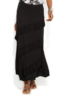 INC International Concepts Petite Tiered Maxi Skirt