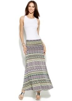 INC International Concepts Petite Tribal-Print Convertible Maxi Skirt