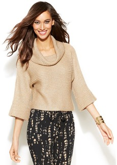 INC International Concepts Cropped Cowl-Neck Sweater