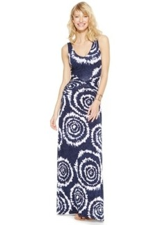 INC International Concepts Petite V-Neck Tie-Dye Maxi Dress
