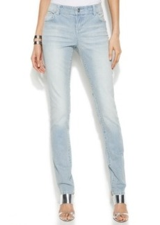 INC International Concepts Pinstripe Skinny Jeans, Indigo Wash