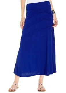 Inc International Concepts Pintucked Knit Maxi Skirt
