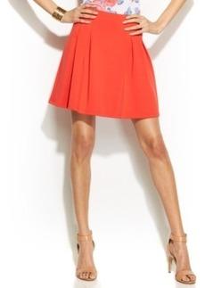 INC International Concepts Pleated Scuba Mini Skirt