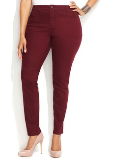 INC International Concepts Plus Size Colored Skinny Jeans