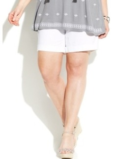 INC International Concepts Plus Size Cuffed Shorts