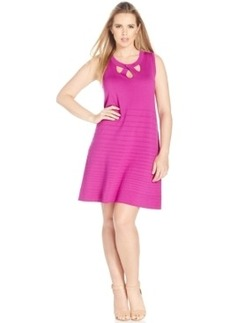 Inc International Concepts Plus Size Cutout A-Line Dress