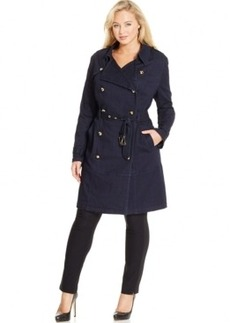 Inc International Concepts Plus Size Denim Trench Coat, Only at Macy's