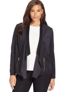 Inc International Concepts Plus Size Draped Jacket