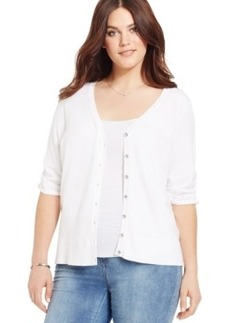 INC International Concepts Plus Size Elbow-Sleeve Cardigan
