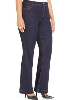 Inc International Concepts Plus Size Flared Jeans, Indigo Wash, Only at Macy's