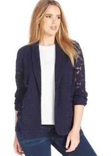 Inc International Concepts Plus Size Floral-Lace Jacket