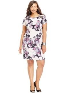 Inc International Concepts Plus Size Floral-Print Sheath Dress