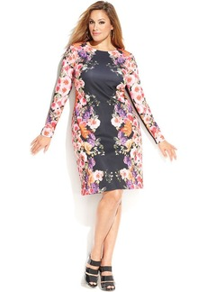 INC International Concepts Plus Size Floral-Print Sheath Dress