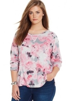Inc International Concepts Plus Size Floral-Print Sweatshirt, Only at Macy's