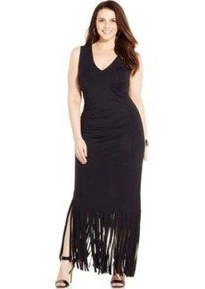 Inc International Concepts Plus Size Fringed Maxi Dress