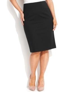 INC International Concepts Plus Size High-Waist Pencil Skirt