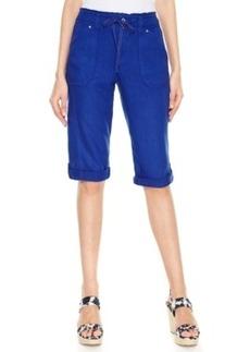 Inc International Concepts Plus Size Linen Skimmer Shorts