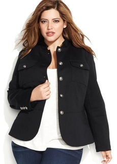 INC International Concepts Plus Size Military-Inspired Jacket