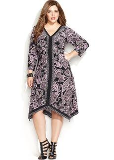 INC International Concepts Plus Size Paisley Dress