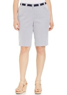 Inc International Concepts Plus Size Pinstripe Bermuda Shorts