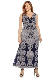 INC International Concepts Plus Size Printed Maxi Dress