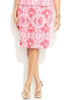 INC International Concepts Plus Size Printed Pencil Skirt