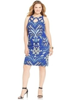 INC International Concepts Plus Size Printed Sheath Dress
