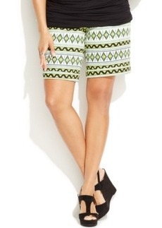 INC International Concepts Plus Size Printed Shorts