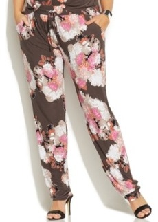 INC International Concepts Plus Size Printed Tapered-Leg Soft Pants