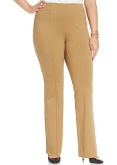 Inc International Concepts Plus Size Ponte Pull-On Bootcut Pants