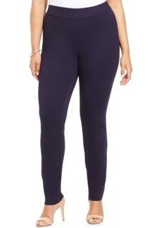 Inc International Concepts Plus Size Ponte Pull-On Straight-Leg Pants