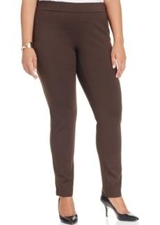 Inc International Concepts Plus Size Pull-On Straight-Leg Pants