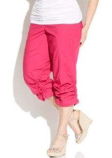 INC International Concepts Plus Size Ruched Cargo Pants