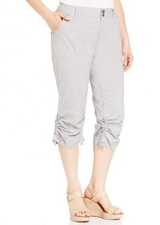 INC International Concepts Plus Size Ruched Cargo Pants