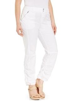 Inc International Concepts Plus Size Ruched Zip-Pocket Pants