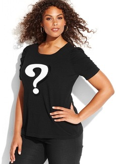 INC International Concepts Plus Size Sequined Question Mark Sweater