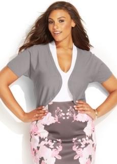 INC International Concepts Plus Size Short-Sleeve Bolero