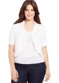 INC International Concepts Plus Size Short-Sleeve Ruffled Bolero