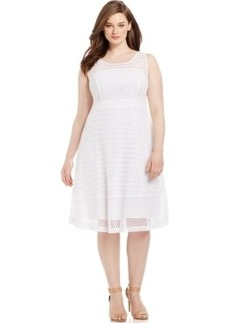 INC International Concepts Plus Size Sleeveless Lace A-Line Dress