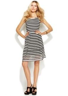 INC International Concepts Sleeveless Printed A-Line Dress