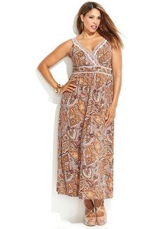 INC International Concepts Plus Size Sleeveless Printed Maxi Dress