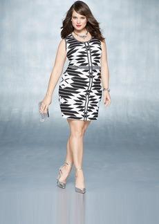 INC International Concepts Plus Size Sleeveless Printed Sweater Dress
