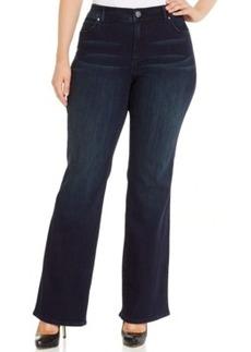 Inc International Concepts Plus Size Slim Tech Fit Bootcut Jeans, Phoenix Wash, Only at Macy's