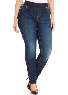 Inc International Concepts Plus Size Slim Tech Fit Jeggings, Sunday Wash, Only at Macy's