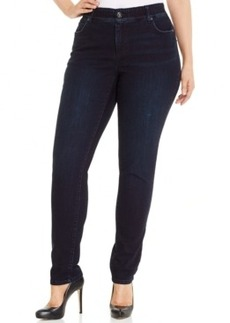 Inc International Concepts Plus Size Slim Tech Fit Skinny Jeans, Darling Wash, Only at Macy's