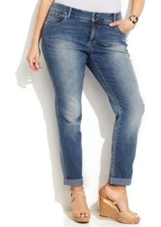 Inc International Concepts Plus Size Straight-Leg Jeans, Zenith Wash