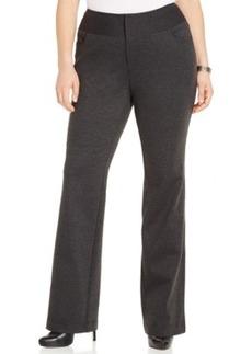Inc International Concepts Plus Size Ponte Straight-Leg Pants